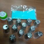 14 Units/Set Flowers Headers with Pastry Bag for Decoration