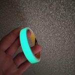 Vibrant Green Glow Self-Adhesive Tape for Modern Wall Decor