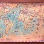 Nautical Ocean Retro World Map